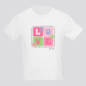 John 3:16 Kids Light T-Shirt