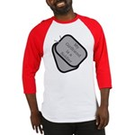 My Girlfriend is a Soldier dog tag Baseball Jerse