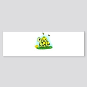 Turtle Sunflower and Butterflies Bumper Sticker