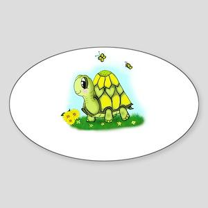 Turtle Sunflower and Butterflies Sticker