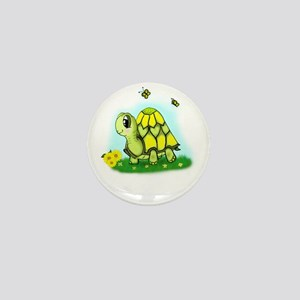 Turtle Sunflower and Butterflies Mini Button