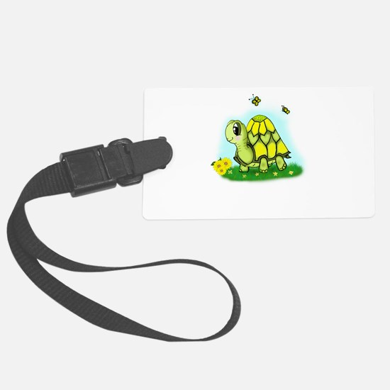 Turtle Sunflower and Butterflies Luggage Tag