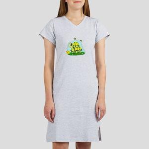 Turtle Sunflower and Butterflies Women's Nightshir