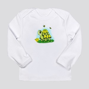Turtle Sunflower and Butterflies Long Sleeve T-Shi
