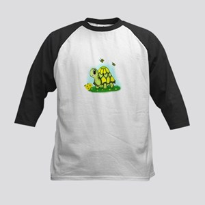Turtle Sunflower and Butterflies Baseball Jersey