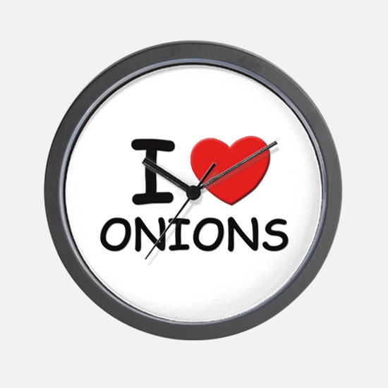 I love onions Wall Clock