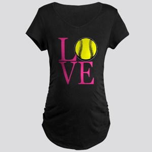 LOVE SOFTBALL Maternity T-Shirt