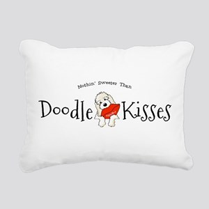 Doodle Kisses Rectangular Canvas Pillow
