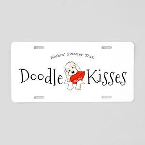 Doodle Kisses Aluminum License Plate