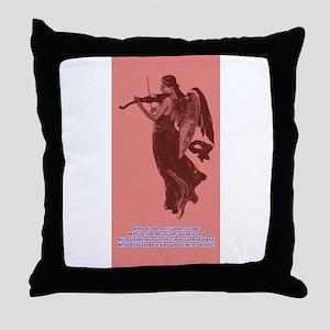 Angel Singing Throw Pillow