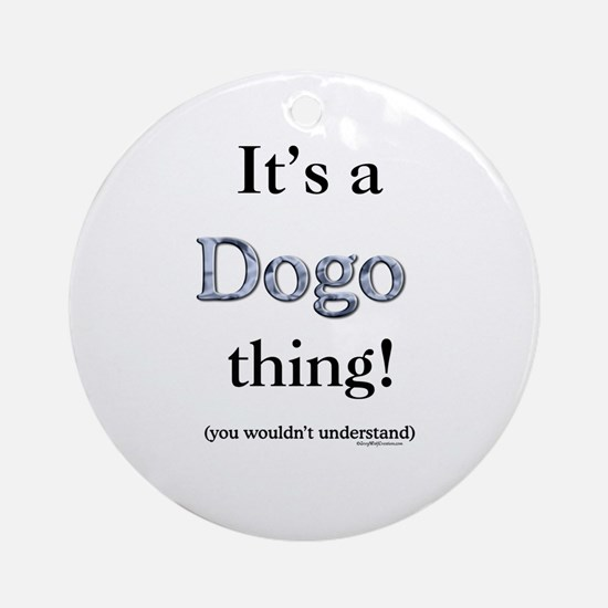 Dogo Thing Ornament (Round)