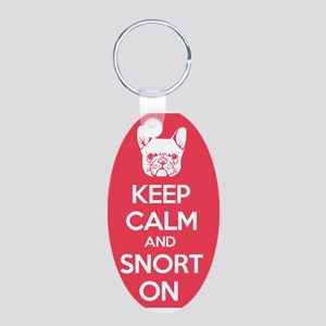 Keep Calm and Snort On Keychains