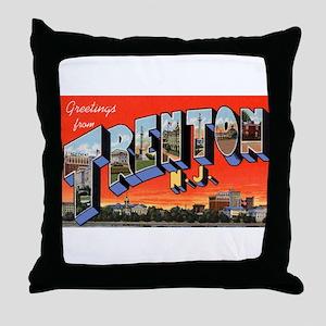 Trenton New Jersey Greetings Throw Pillow
