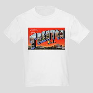 Trenton New Jersey Greetings (Front) Kids T-Shirt