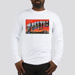 Trenton New Jersey Greetings (Front) Long Sleeve T