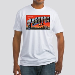 Trenton New Jersey Greetings (Front) Fitted T-Shir