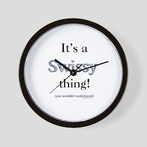 Swissy Thing Wall Clock