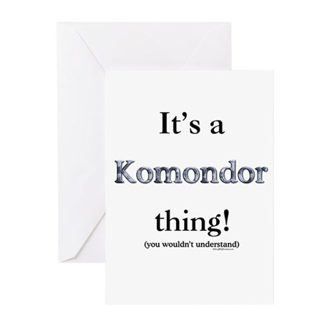 Komondor Thing Greeting Cards (Pk of 10)