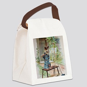 He Was Playing The Flute Canvas Lunch Bag