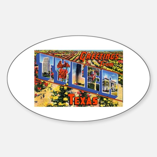 Tyler Texas Greetings Oval Decal