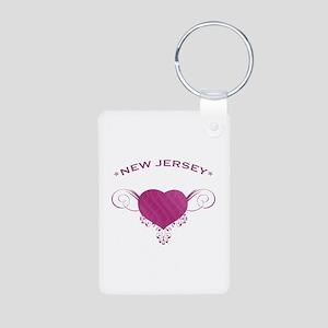 New Jersey State (Heart) Gifts Aluminum Photo Keyc
