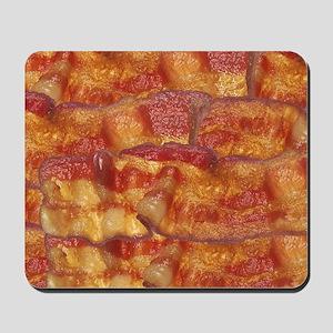 Fried Bacon Background Pattern Mousepad