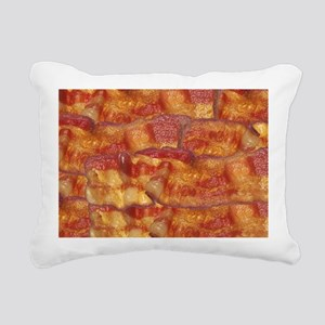 Fried Bacon Background P Rectangular Canvas Pillow