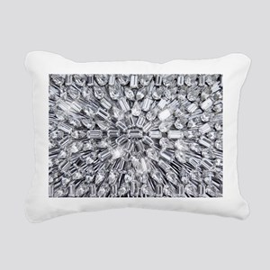 Radial Rhinestone Bling Rectangular Canvas Pillow
