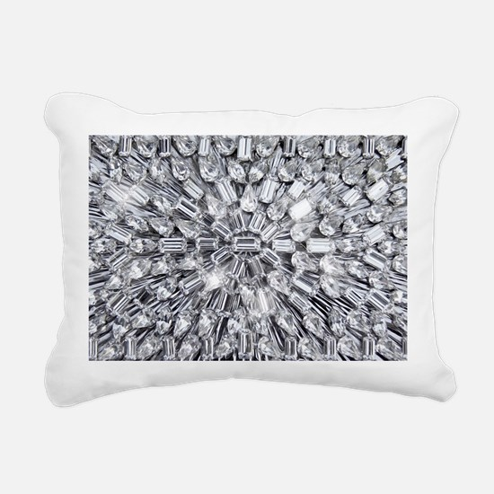 Radial Rhinestone Bling Rectangular Canvas Pillow