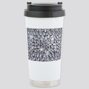 Radial Rhinestone Bling Stainless Steel Travel Mug
