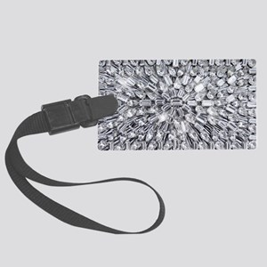 Radial Rhinestone Bling Large Luggage Tag