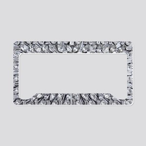 Radial Rhinestone Bling License Plate Holder