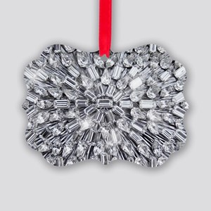Radial Rhinestone Bling Picture Ornament