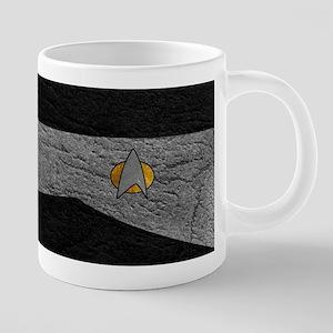 SF 2360 LEATHER GRAY 20 oz Ceramic Mega Mug