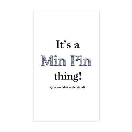 Min Pin Thing Rectangle Sticker