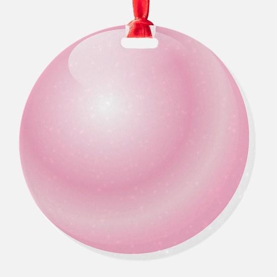 Pink Bubblegum Bubble Ornament