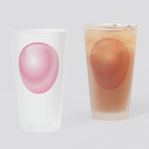 Pink Bubblegum Bubble Drinking Glass