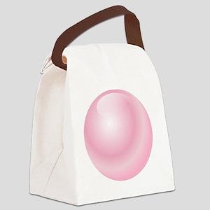 Pink Bubblegum Bubble Canvas Lunch Bag