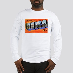 Utica New York Greetings (Front) Long Sleeve T-Shi