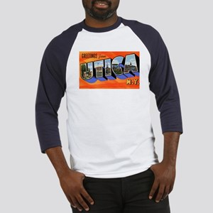 Utica New York Greetings (Front) Baseball Jersey