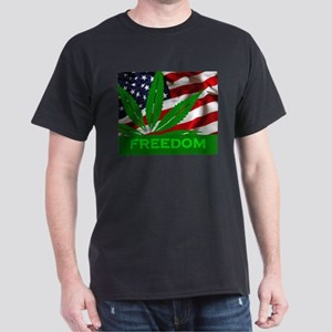 Marijuana Freedom Flag T-Shirt