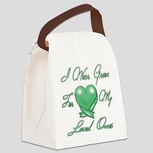 I wear Green Canvas Lunch Bag