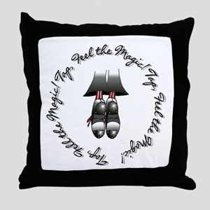 Toe Stand - Tap, Feel the Mag Throw Pillow
