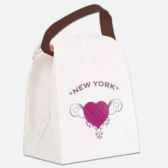 New York State (Heart) Gifts Canvas Lunch Bag