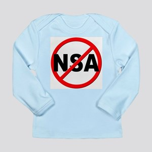 Anti / No NSA Long Sleeve Infant T-Shirt