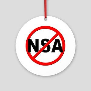 Anti / No NSA Ornament (Round)