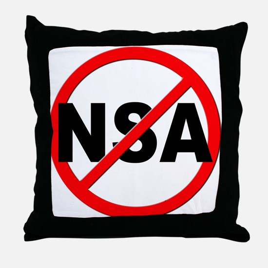 Anti / No NSA Throw Pillow