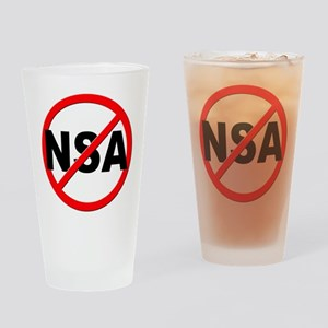 Anti / No NSA Drinking Glass
