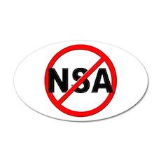 Anti / No NSA Wall Decal