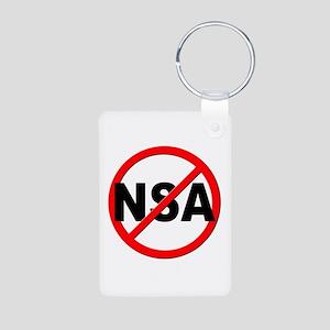 Anti / No NSA Aluminum Photo Keychain